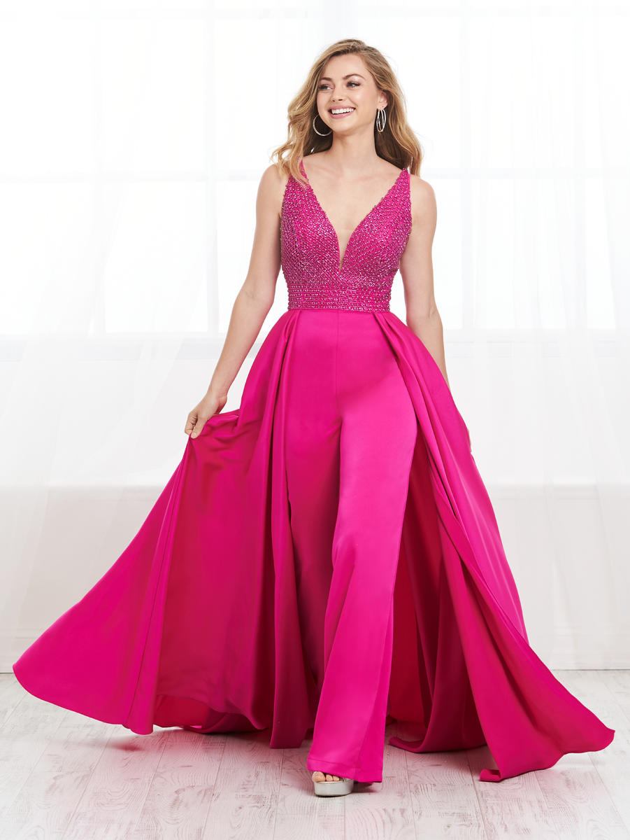 Tiffany Prom Jumpsuit with Overskirt