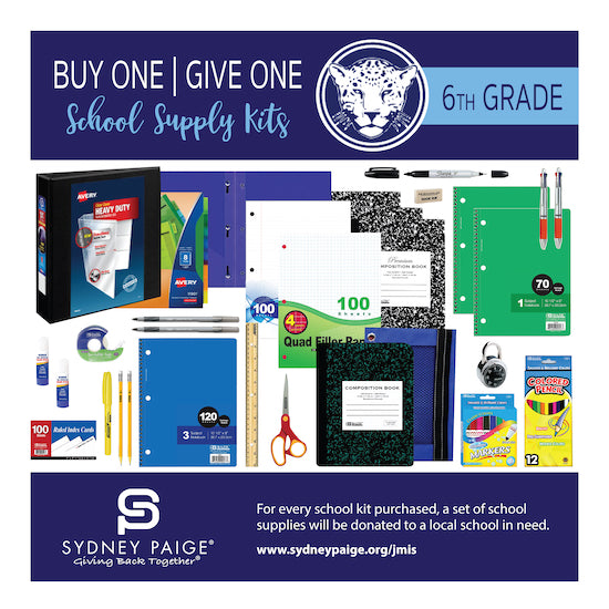 BUY 1 GIVE 1 School Kits - JMIS (6th Grade)