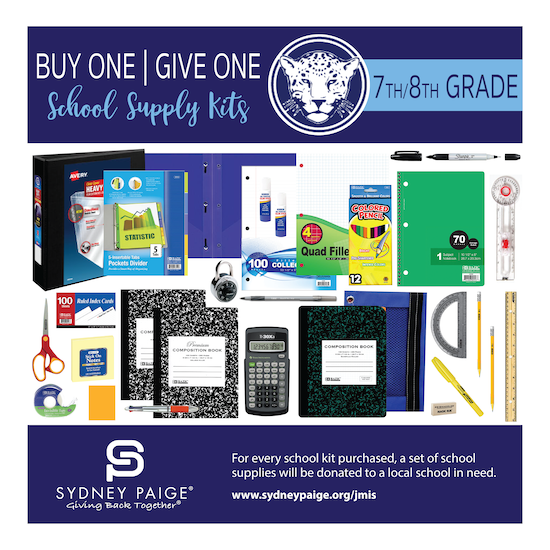BUY 1 GIVE 1 School Kits - JMIS (7th/8th Grade)