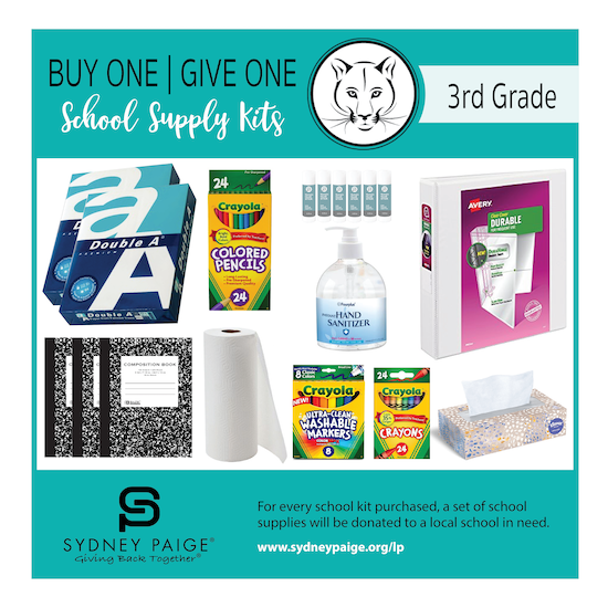 BUY 1 GIVE 1 School Kits - LP (3rd Grade)