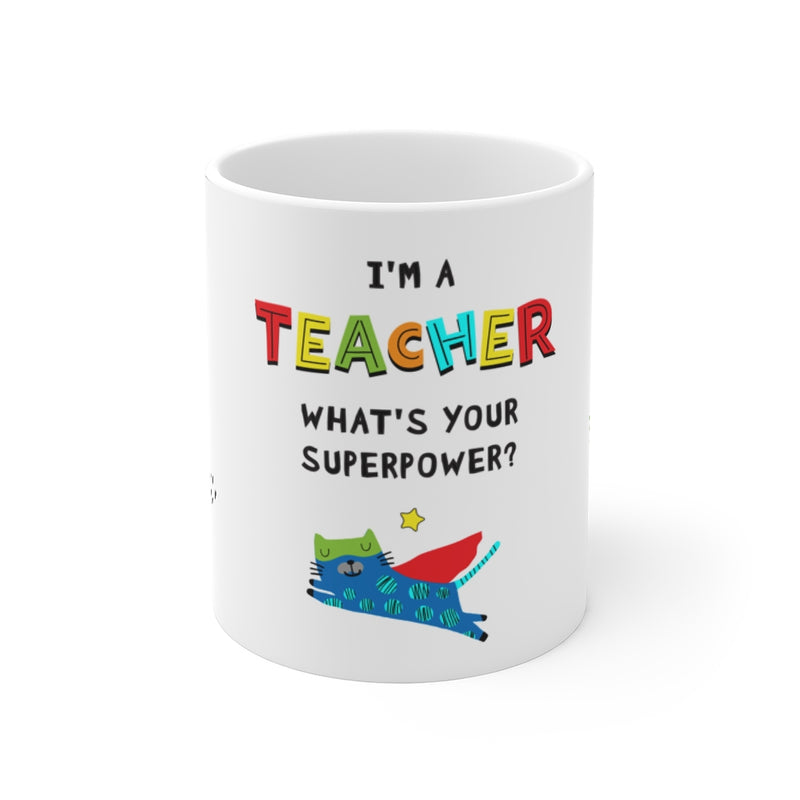 Mug | Super Teacher | Cat
