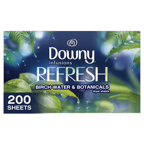 Downy Infusions Dryer Sheets, Refresh Birch Water & Botanicals 200 ct