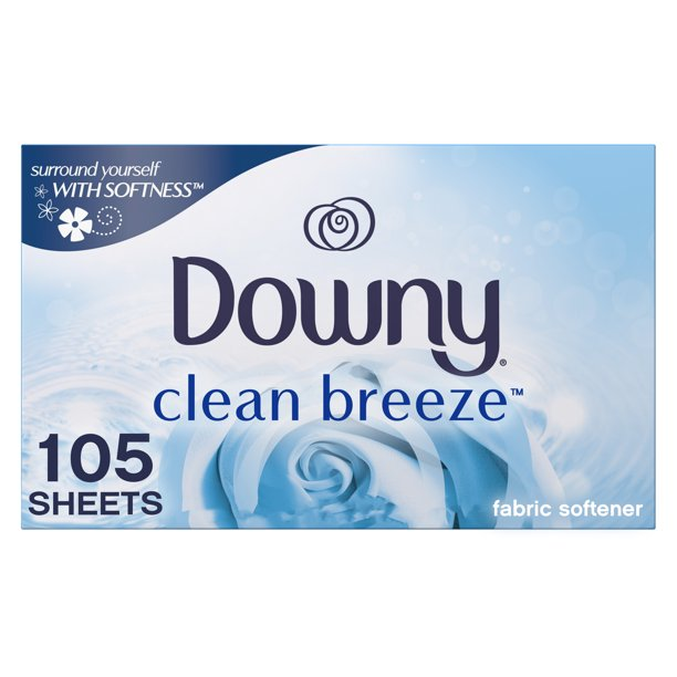 Downy Dryer Sheets, Clean Breeze Scent, 105 Count