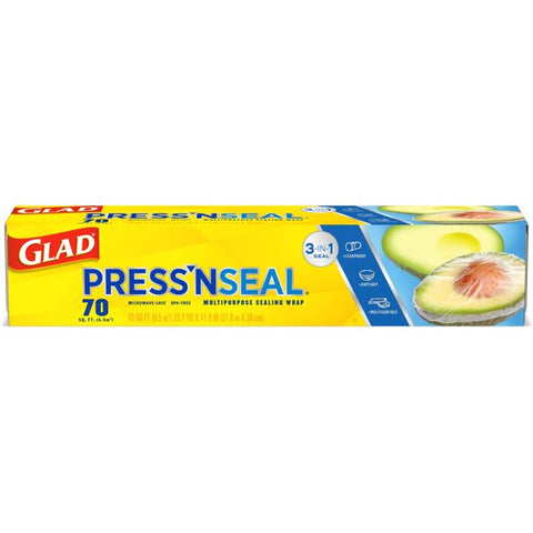 Glad Press'n Seal Plastic Food Wrap, 70 Square Feet
