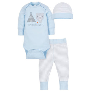 Wonder Nation Baby Boy Outfit Take Me Home, 3-Piece