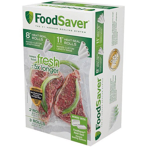 FoodSaver Vacuum Heat-seal Rolls Combo Pack, Multiple Sizes, 5 count