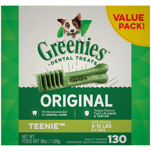 GREENIES Original TEENIE Natural Dental Dog Treats, 36 oz. Pack