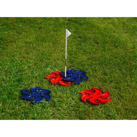 Fling A Ring Outdoor Backyard Game, Red and Blue