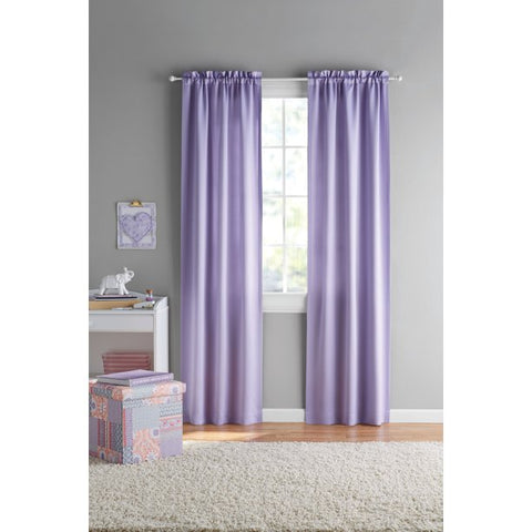 Your Zone Kids Room Darkening Curtain Panels, Set of 2