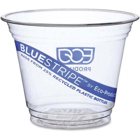 Eco-Products, ECOEPCR9PK, BlueStripe Cold Cups, 50 / Pack, Clear, 9 fl oz