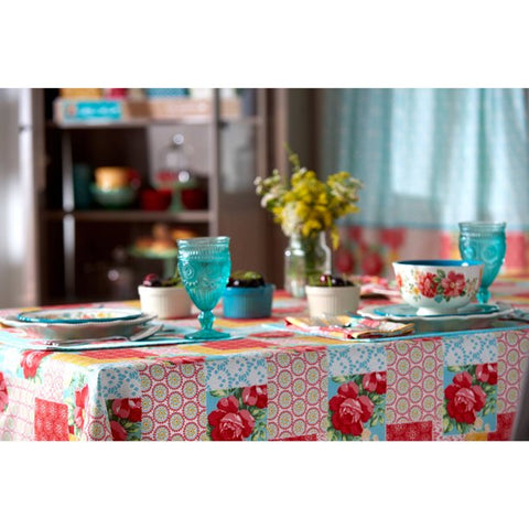 "The Pioneer Woman Patchwork Fabric Tablecloth, 60""W x 84""L, Available in Multiple Sizes"