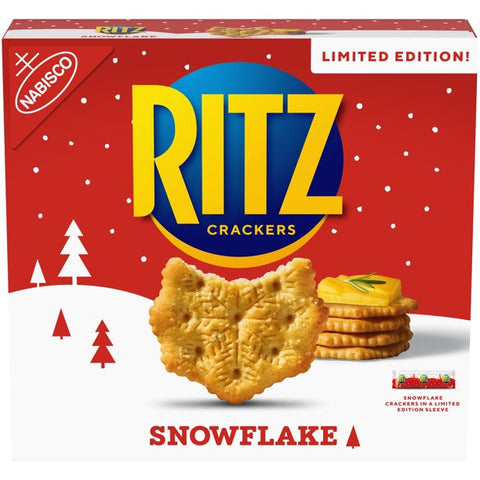 RITZ Snowflake Crackers, Limited Edition Holiday Crackers, 13.7 oz Box