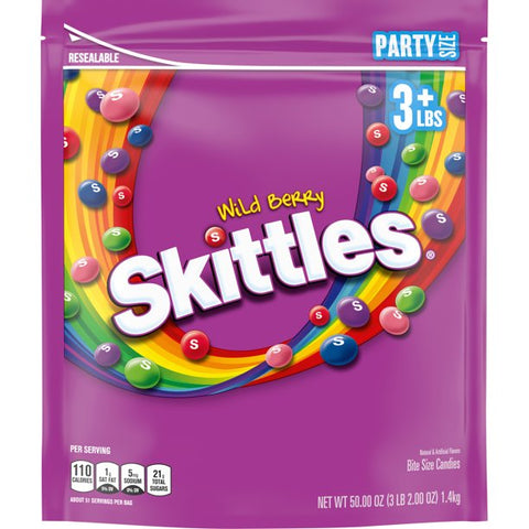 Skittles Wild Berry Party Size Chewy Candy, 50 oz