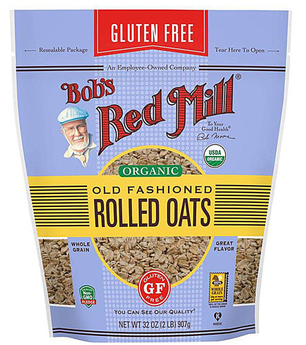 Bob's Red Mill Organic Rolled Oats Gluten Free Old fashioned -- 32 oz