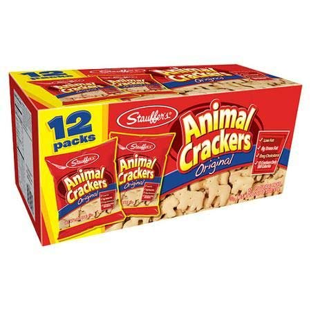 Stauffer's Animal Crackers, Low Fat Original, 1.5 oz, 12 Count