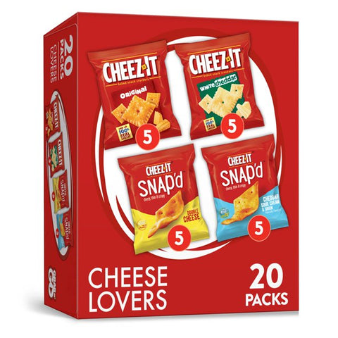 Cheez-It, Snacks, Variety Pack, 20 Ct, 17.6 Oz