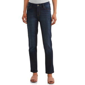 Time and Tru Women's Core Modern Mid-Rise Straight Jean