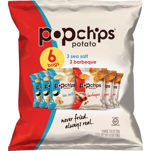 Popchips Variety Pack, 0.8 oz, 6 Count