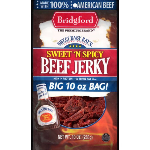 Bridgford Sweet Baby Ray's Sweet 'N Spicy Beef Jerky, 10 Oz.