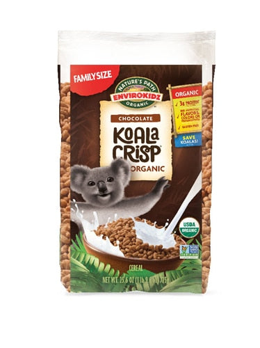 Nature's Path EnviroKidz Organic Koala Crisp Cereal Chocolate -- 25.6 oz