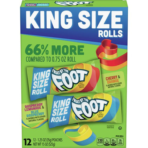 Fruit by the Foot, King Size, Variety, 12 ct, 1.3 oz