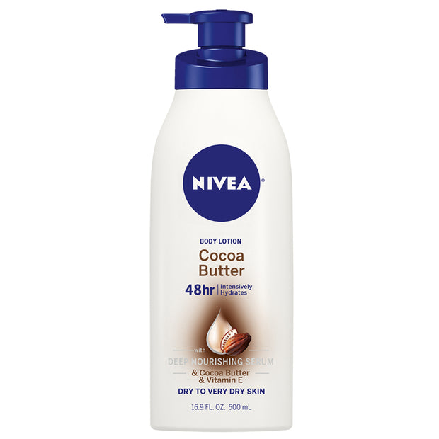 NIVEA Cocoa Butter Body Lotion, 16.9 Fl. Oz. Bottle