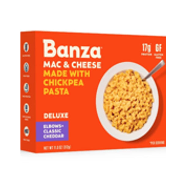 Banza Gluten Free Deluxe Mac & Cheese with Elbow Chickpea Pasta + Classic Cheddar Cheese, 11 oz