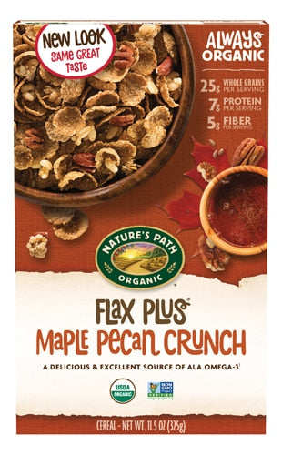 Nature's Path Organic Flax Plus® Cereal Maple Pecan Crunch -- 11.5 oz
