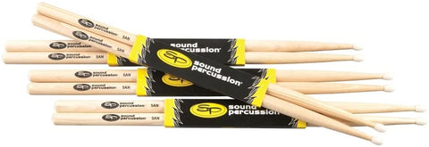 Sound Percussion Labs Hickory Drumsticks 4-Pack 5A Nylon
