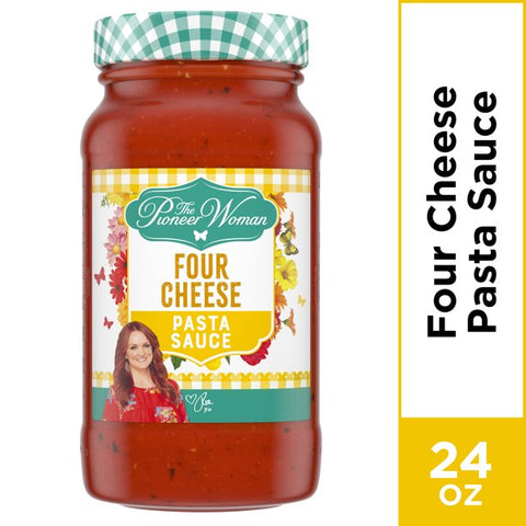 Pioneer Woman Four Cheese Pasta Sauce, 24 oz Jar