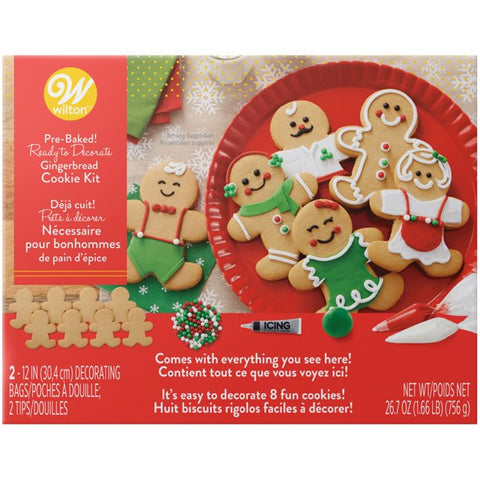 Wilton Ready to Decorate Gingerbread Cookie Kit