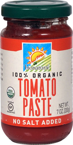 Bionaturae Organic Tomato Paste No Salt Added -- 7 oz