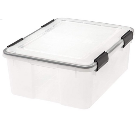 IRIS USA, Inc. UCB-FB ULTIMATE CLEAR FILE BOXES, 32 Quart