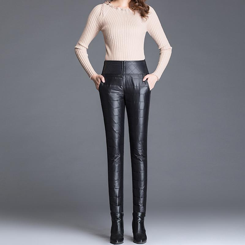 Women High-Waist Down Trousers