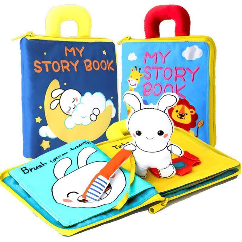 Urlife™ Early Education 3D Cloth Book
