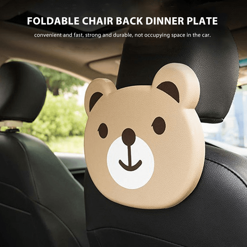 Car Folding Cartoon Dinner Plate