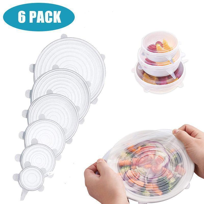 Stretchable Food Silicone Lid, 6 pieces/set
