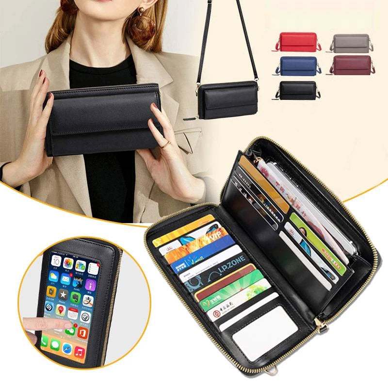 Touch Screen RFID BLOCKING Phone Purse