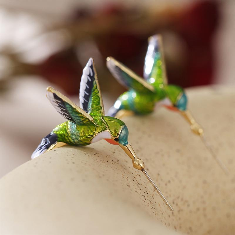 Cute Hummingbird Earrings