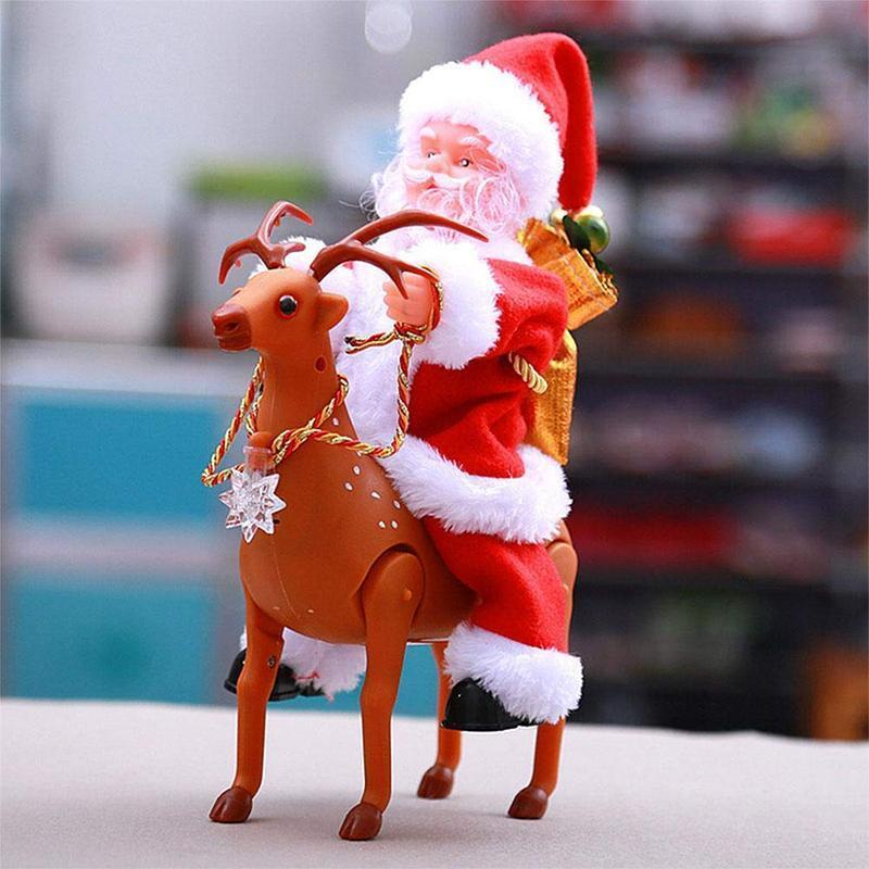 Santa Claus doll shaking the hips,Chimney Climbing Santa Claus,Santa Claus Riding An Electric Reindeer