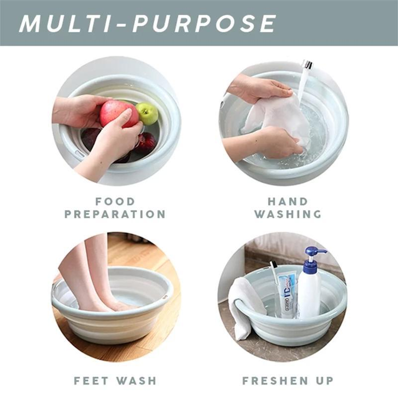 Muti-functional Collapsible Wash Basin