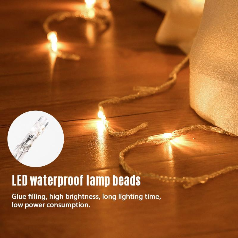 3M 10 lines 8-mode 320 LED Waterfall Waterproof String Light