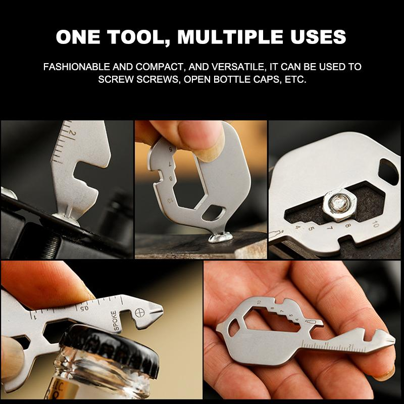 Multi-function key tool card