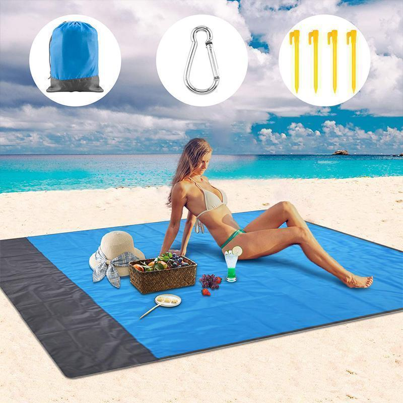Tendaisy Portable Anti-sand Beach Blanket - for Park, Beach and Picnic