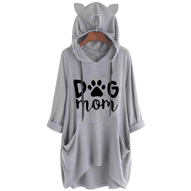 Oversize Hoodie with Dog Ears