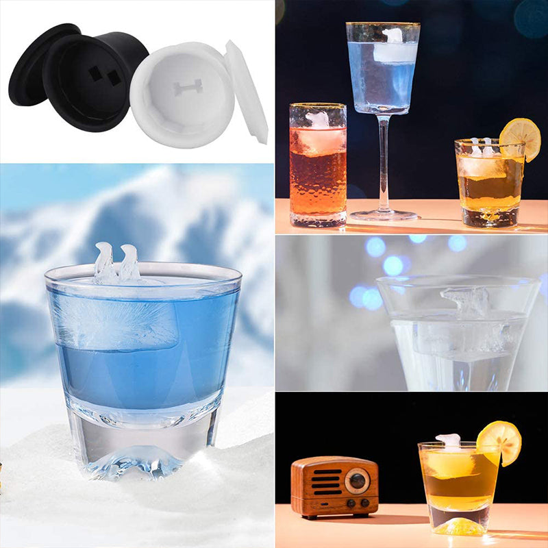 Polar Bear and Penguin Shape Ice Cube Molds