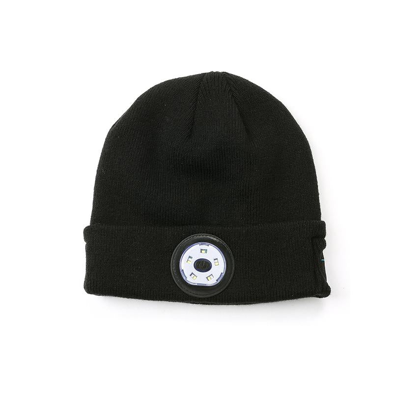 Bluetooth Beanie Hat with LED Headlight