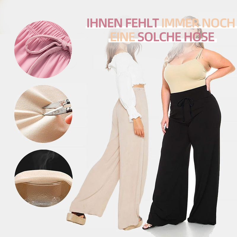 Ice Silk Wide Leg Women's Pants