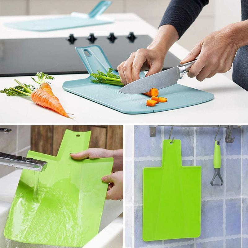 Foldable Plastic Cutting Board With Handle