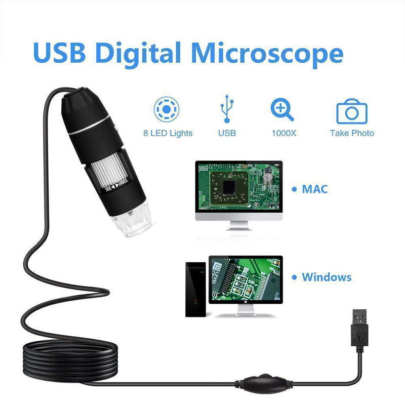 Urlife™ USB Digital Microscope LED PC-Connectable Digital
